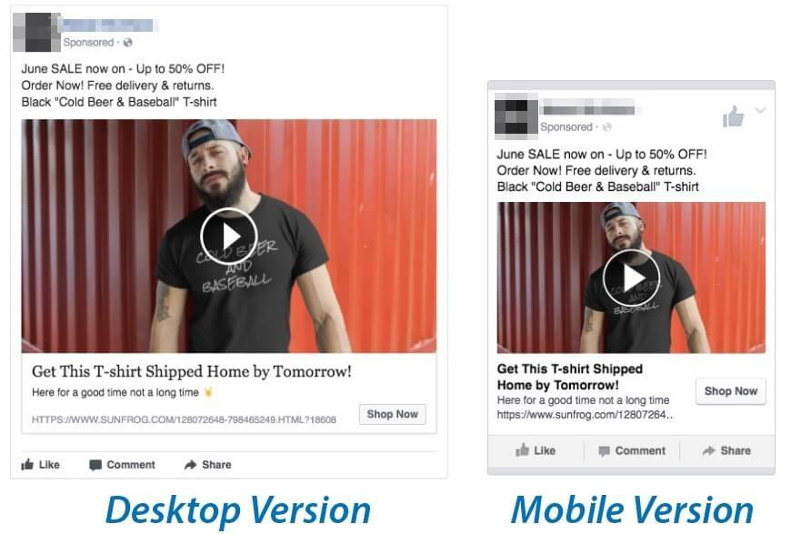 how to tshirt facebook ad