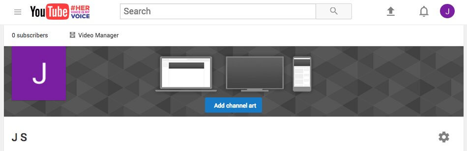 youtube channel art screenshot