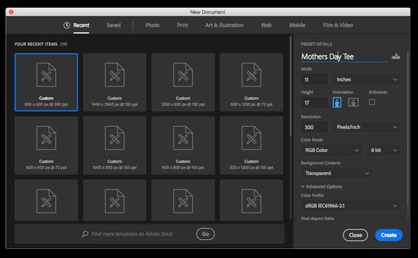Adobe Sizes