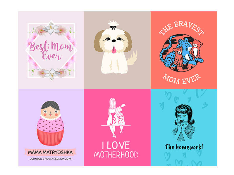 T-Shirt Mother's Day Design Templates