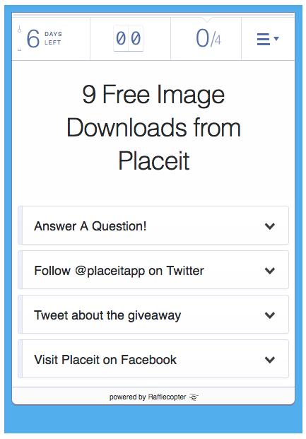 rafflecopter widget placeit