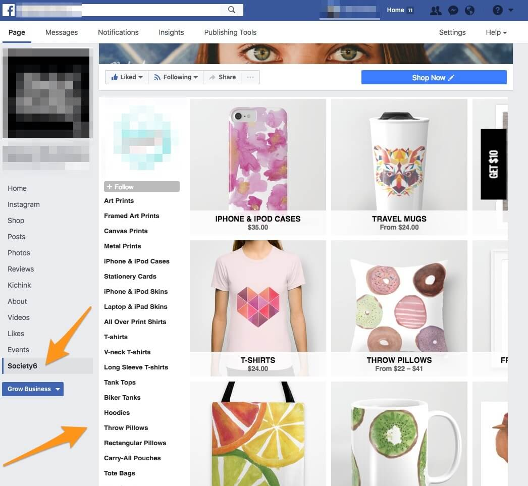 T-Shirt Promotion Ideas - How to Embed a POD Shop to Your Facebook Page