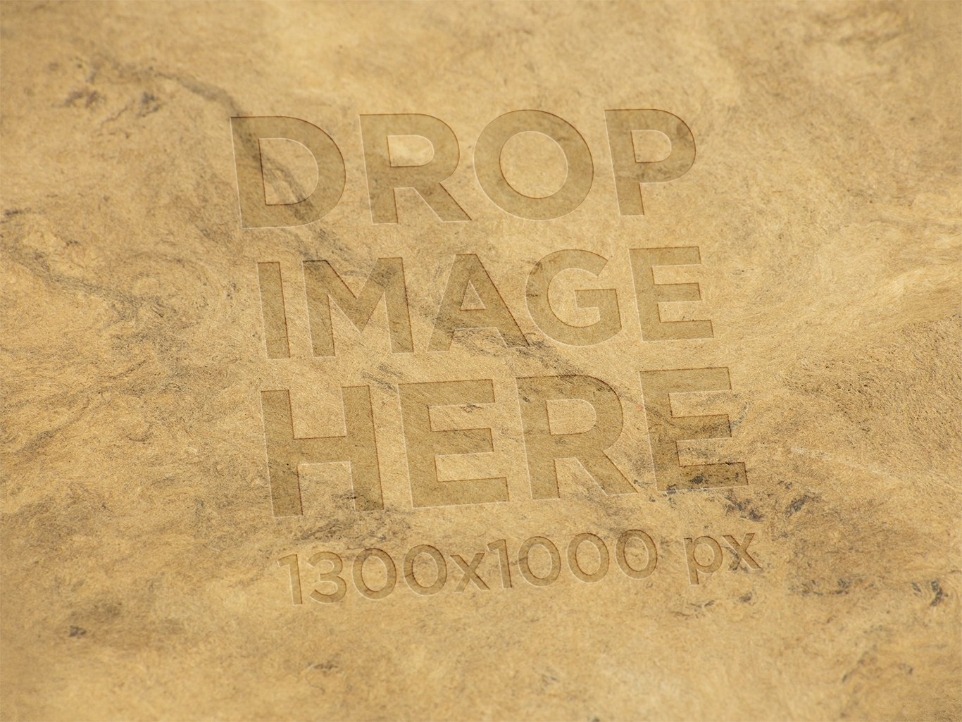 LOGO TEMPLATE ON A RECYCLED BROWN PAPER TEXTURE