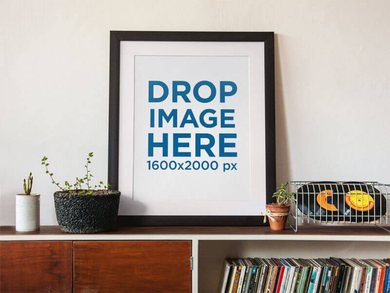 Display Your Artwork Using Beautiful Art Print Mockups