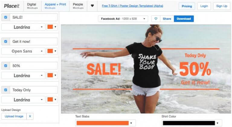 How To Create Teespring Facebook Ads Like A Professional Placeit - Photography ad template