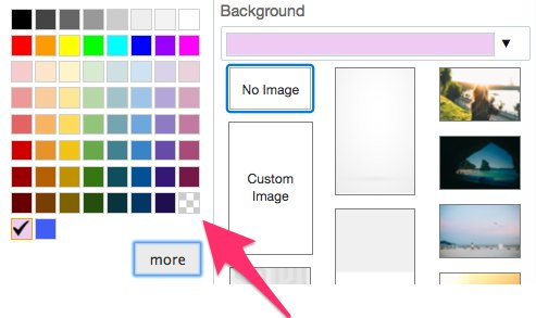 How to chose transparent background color