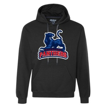 Hoodie with placeit's custom sports logo
