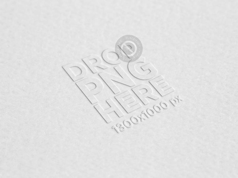 textured paper logo mockup