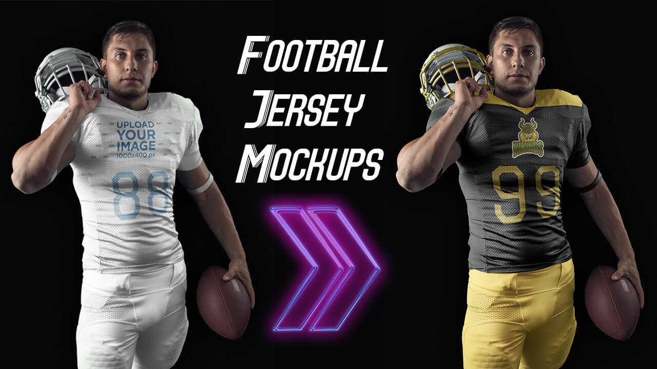 Create Custom Football Jerseys And Uniform Mockups Placeit Blog