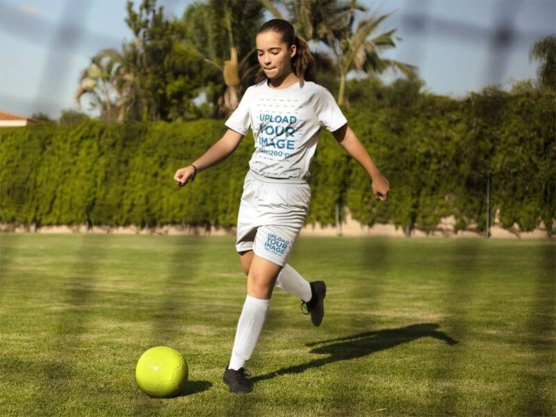 Custom Soccer Jersey Girl Running