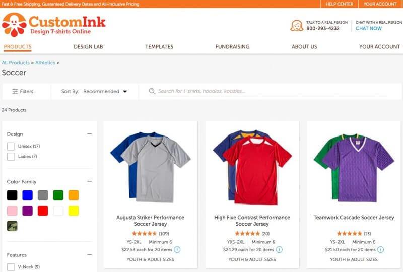 print soccer jerseys customink