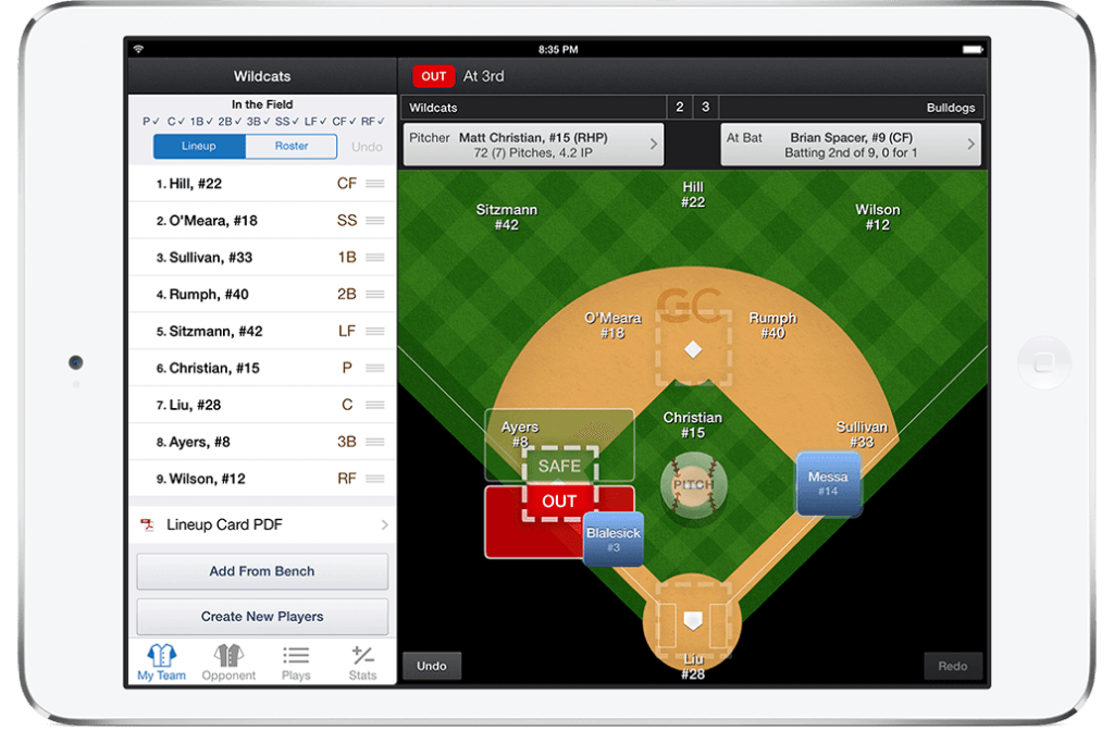 baseball scorekeeping app gamechanger