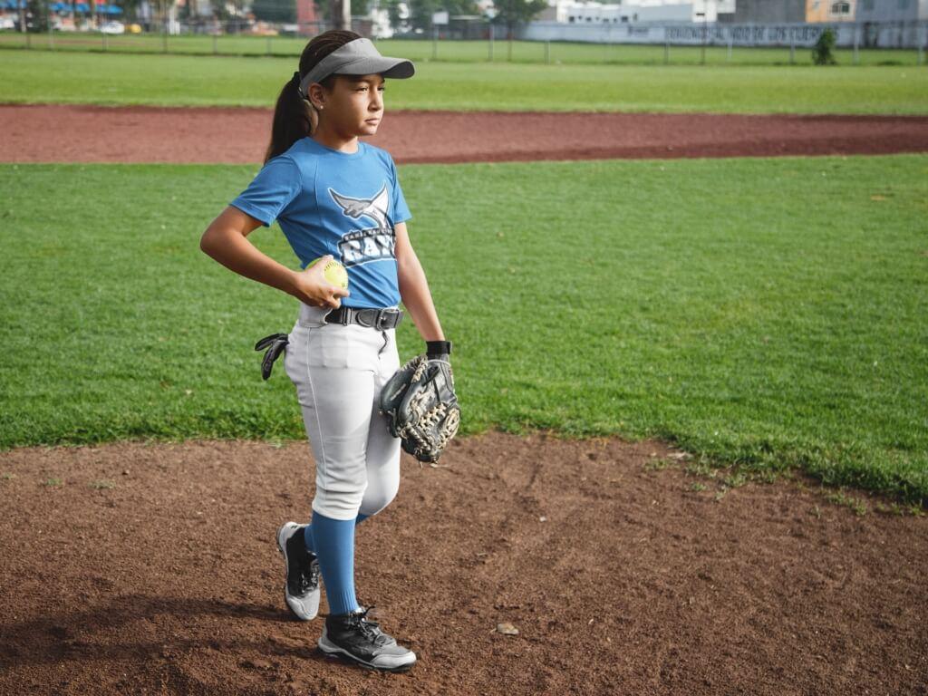 Custom Softball Jerseys – Girl at the Field Mockup