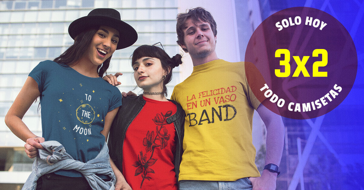 Anuncio de facebook para camisetas con tres diseños