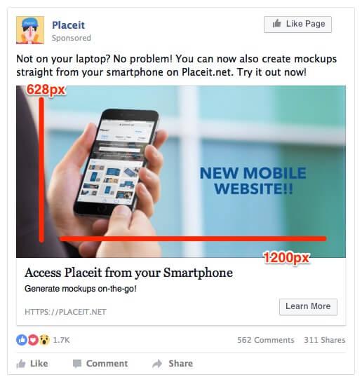 facebook ad mockup