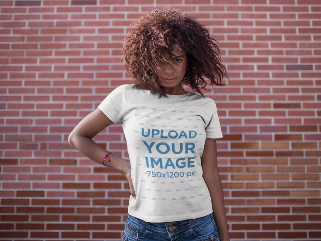Girl Tshirt Mockup