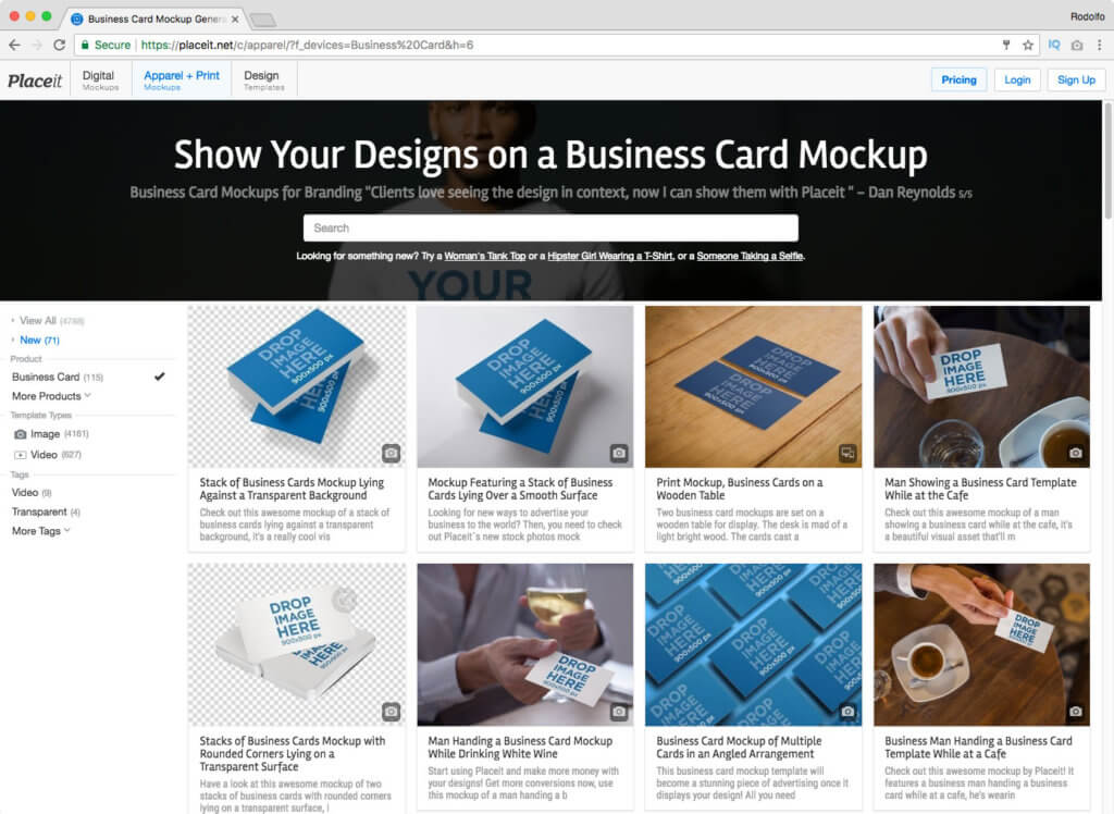 How to Make a Business Card Mockup - Placeit Blog