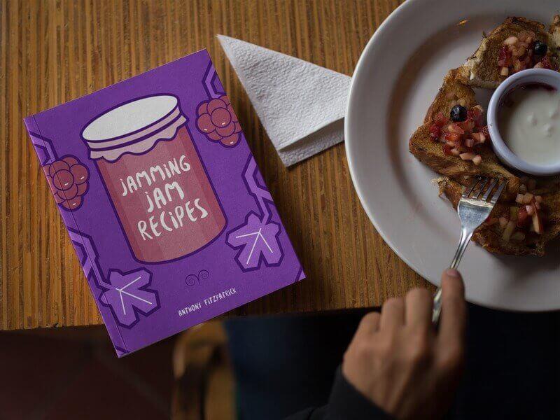 Book Cover Design for Jam Recipe Book