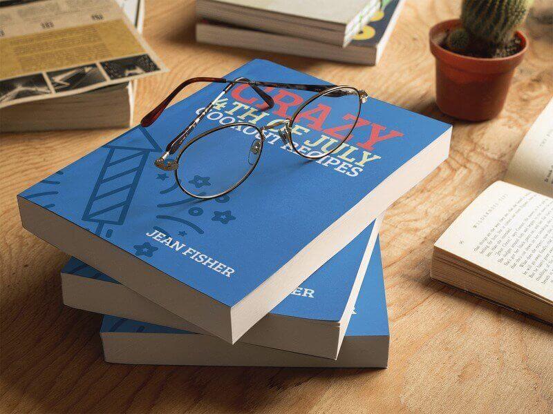 Book Cover Template for Recipe Book