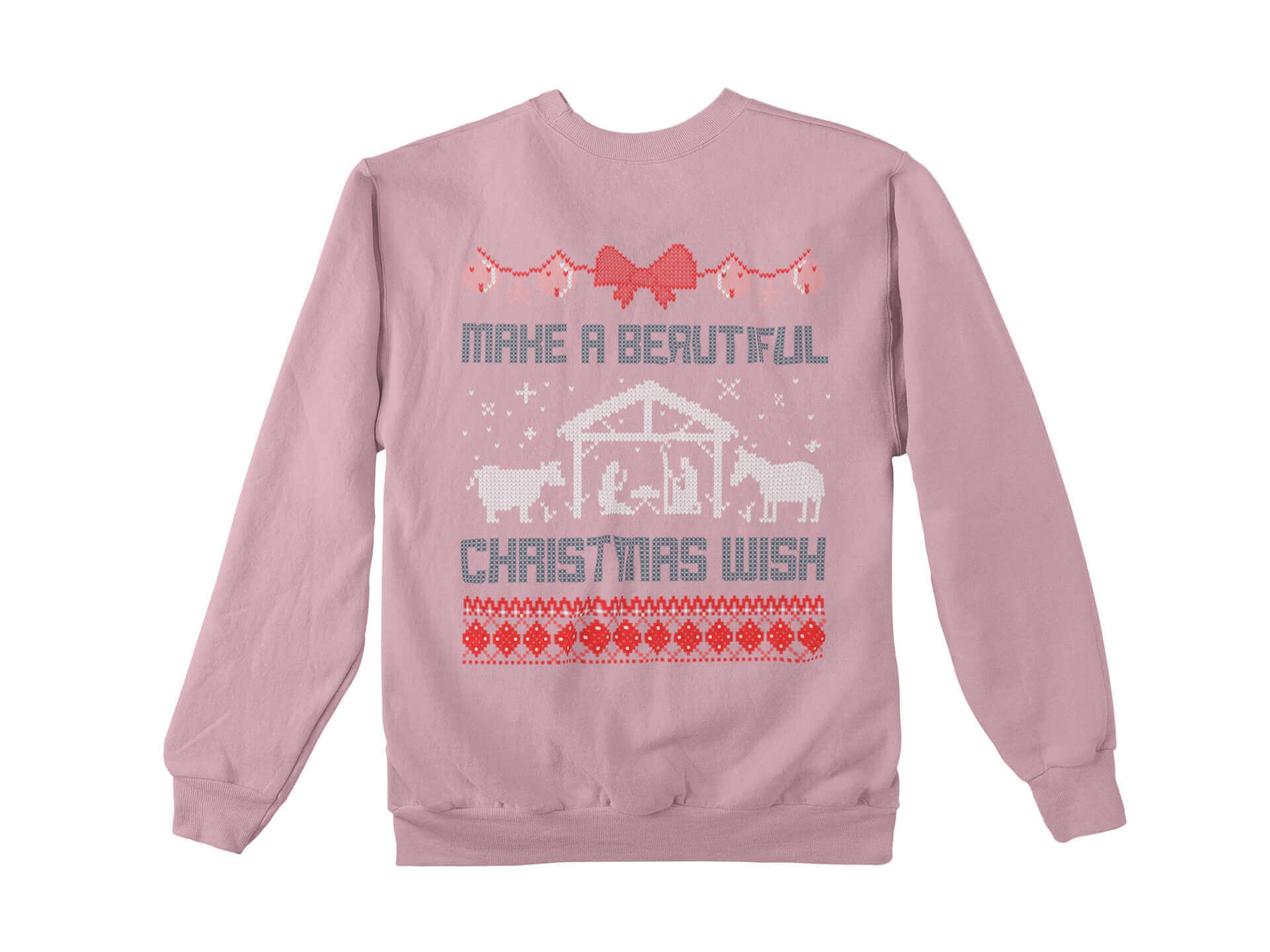 pink ugly christmas sweater