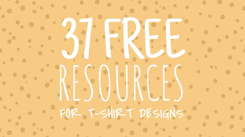 37 free resources for tshirts