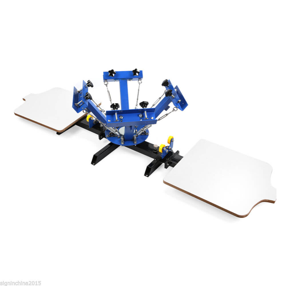 4 Color 2 Station Silk Screen Printing Machine