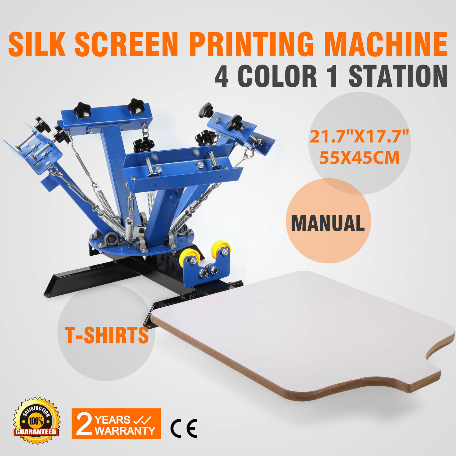 e13962f0 4 color 1 station Screen Printing Machine: DIY T-Shirt Press Printer