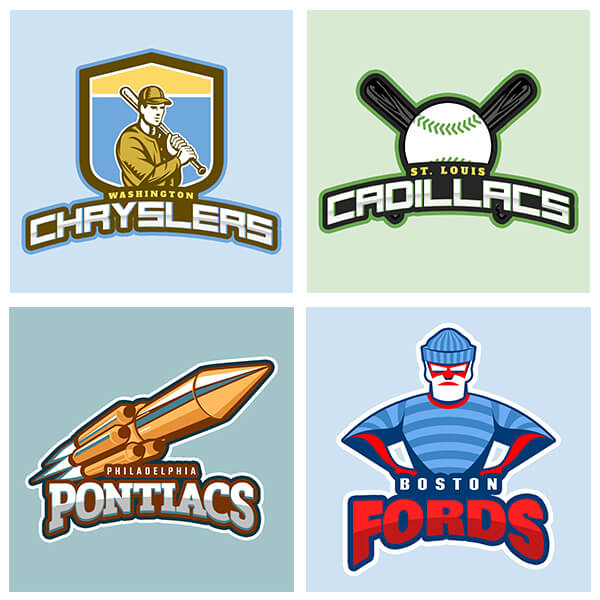 Jack Kerouacs Fantasy Football Logos Reimagined
