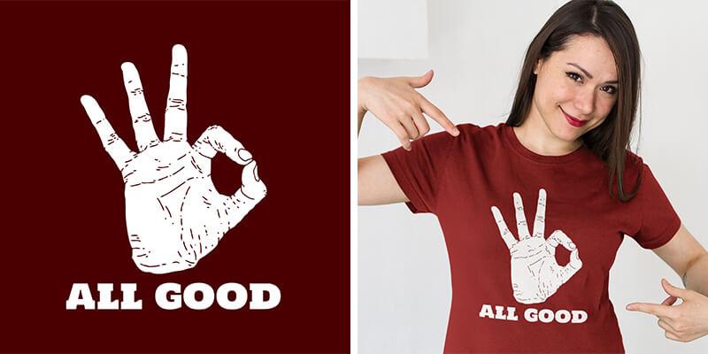T-Shirt Design And Mockup