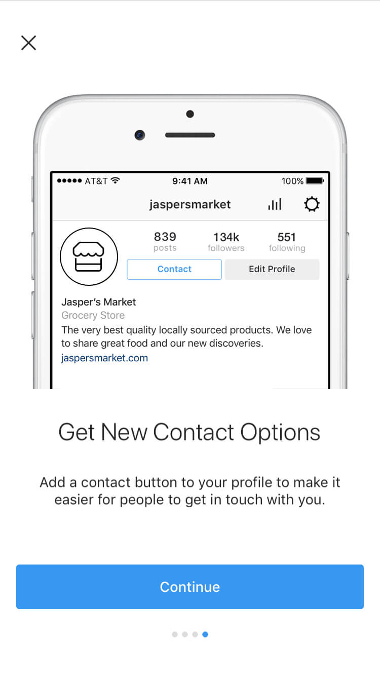 Get new contact options.