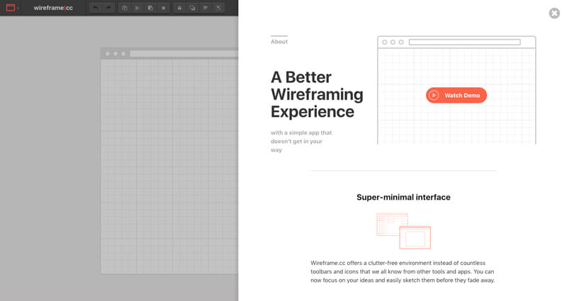 Wireframecc for Easy Wireframing
