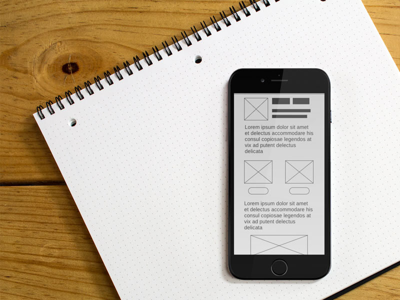 Iphone 6 Mockup And Wireframe Notebook