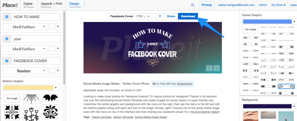 How to Make a Facebook Cover with Placeit - Placeit Blog