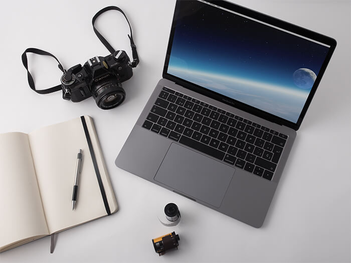 Macbook Silver Mockup Photography Copy