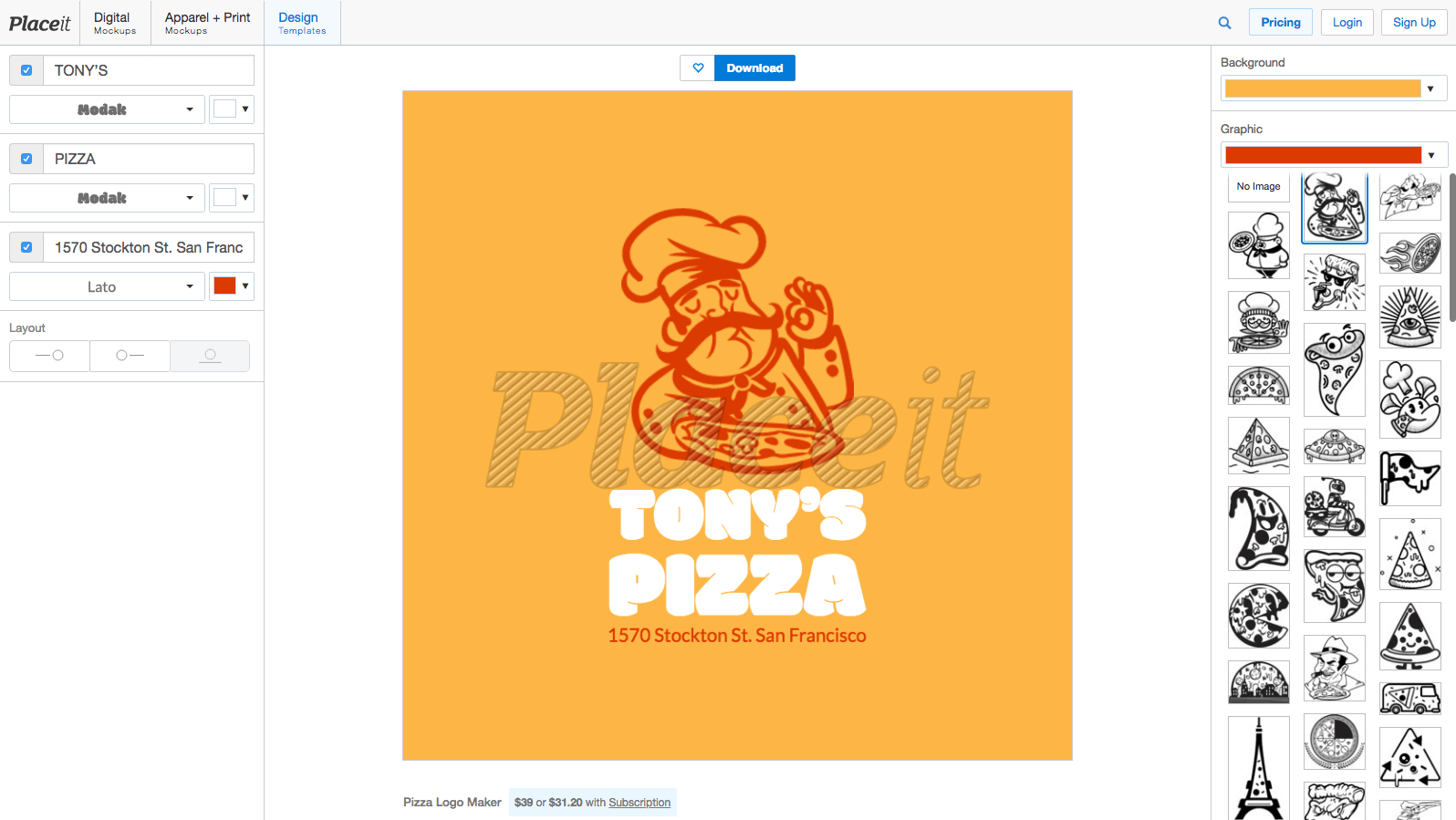 Pizza Logo Maker
