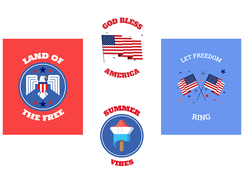 4th Of July T Shirt Designs