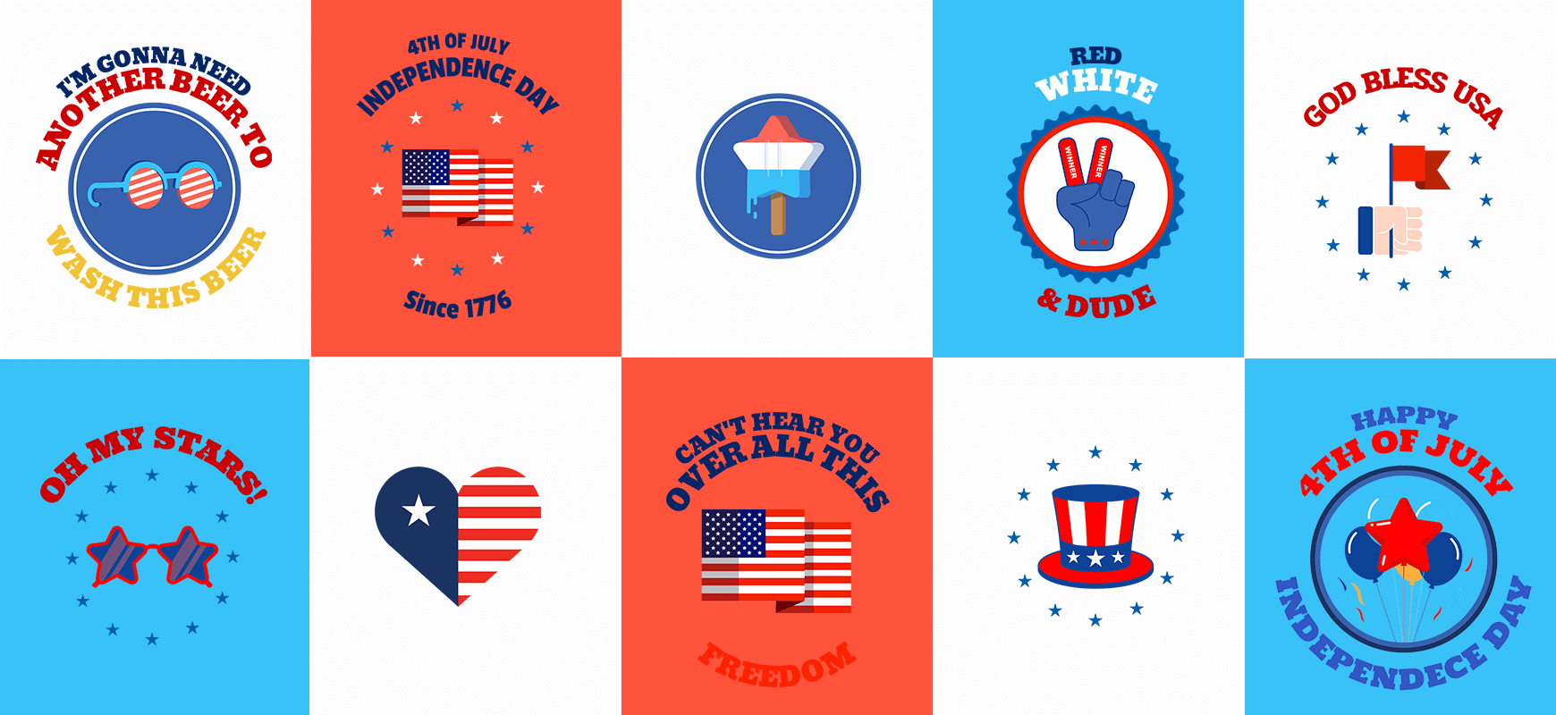4th Of July T Shirt Logos