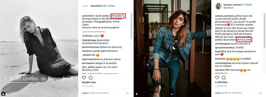 Calvin Klein Hashtag