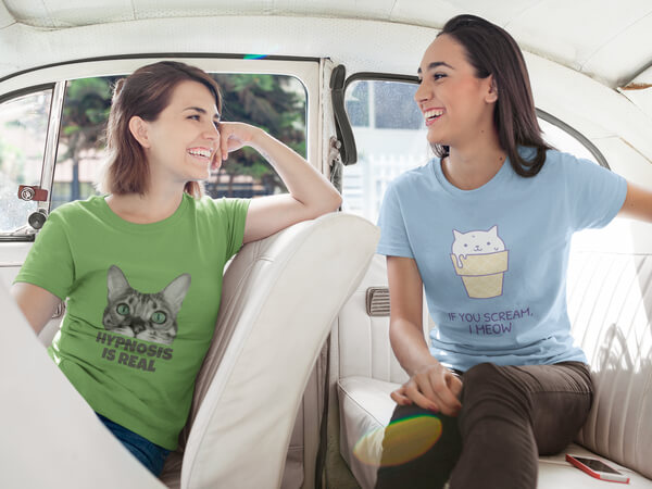 Cats Tshirt Template Mockup