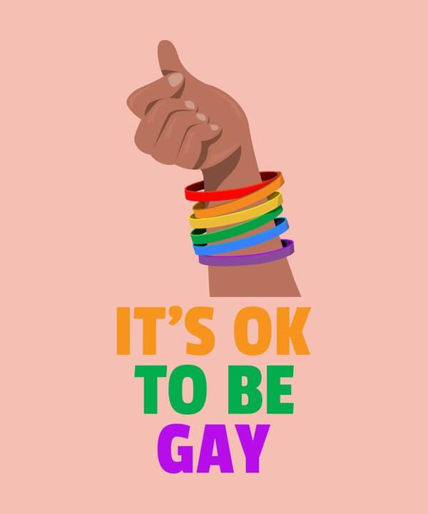 Its Ok To Be Gay Lgbt Tshirt