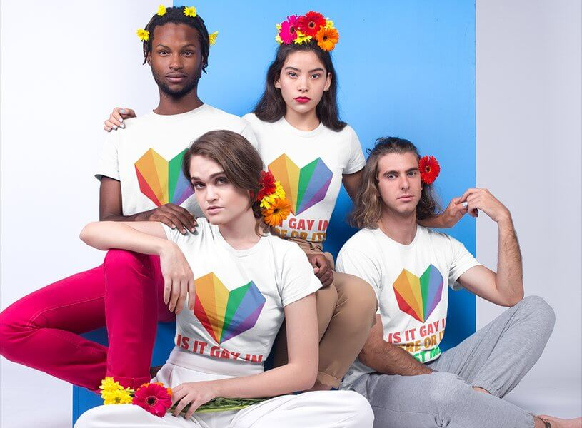 Lgbt Group Tshirt Mockup