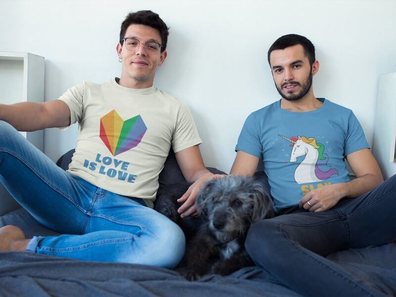 Lgbt Tshirt Design Mockup
