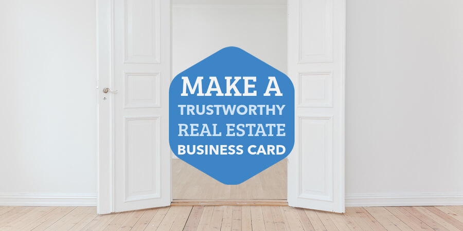 Real Estate Trustworthy Business Card Maker