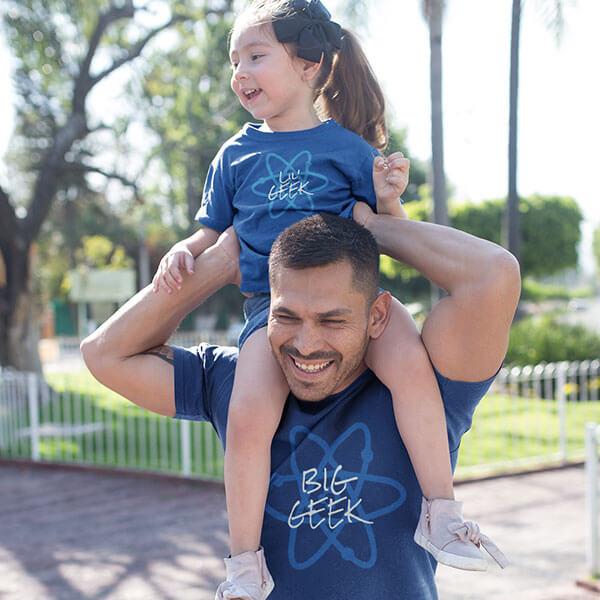 Big Geek Father Day Shirt Design
