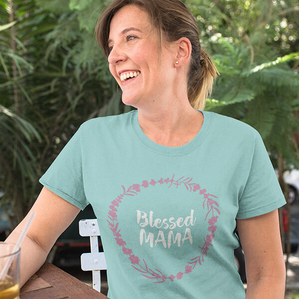 Blessed Mama - t-shirt mockup