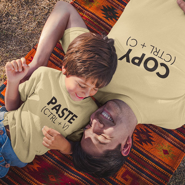 Carbon Copy Fathers Day Tshirt Design
