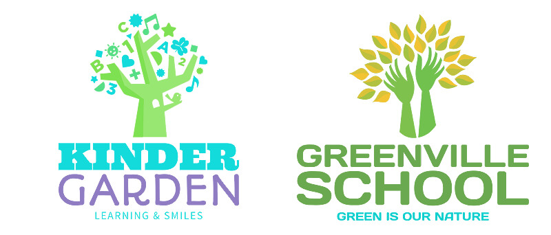 Ecofriendly Icons for School Logos