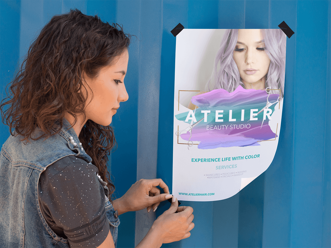 Flyer Mockup Hair Salon