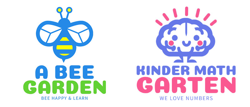School Mascots for Kindergarten Logos Made with Logo Maker