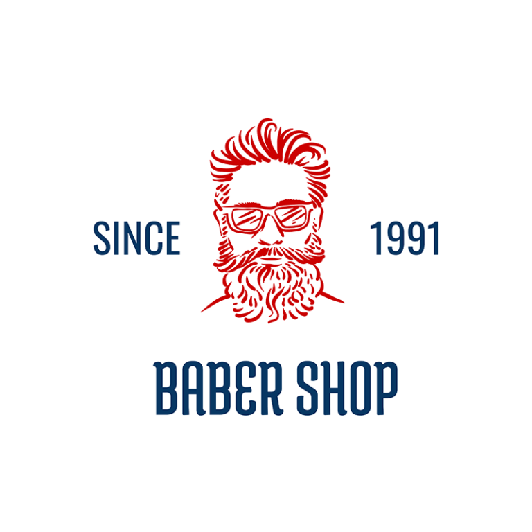 Baber Shop Logo Template